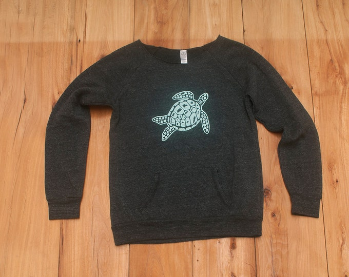 SALE Turtle Sweatshirt, Size Large