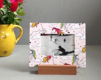 Unicorn Frame, Home Decor, Unicorn Gift, Back to School, Unique Frame, Picture Frame, Whimsical Frame