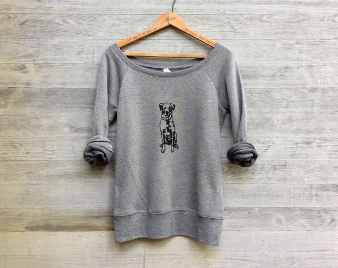 sit...stay...wander...Lab Sweatshirt, Dog Sweater, Labrador Retriever Shirt, Black Lab, Cozy Sweatshirt, Gift for a Dog Walker