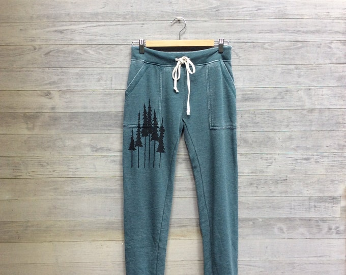 Favorite Sweatpants with Pine Trees, Lounge Pants, Recovery Pants, Camping Sweats, Nature Lover, Hiking Pants