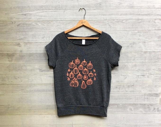 Pumpkin Patch Sweatshirt, Cutoff Sweatshirt, Halloween Top