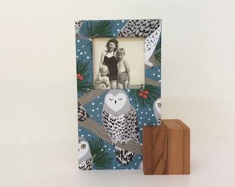 Owl Frame, Small Frame, Desk Frame, Cute Owl Frame, Stocking Stuffer, Secret Santa