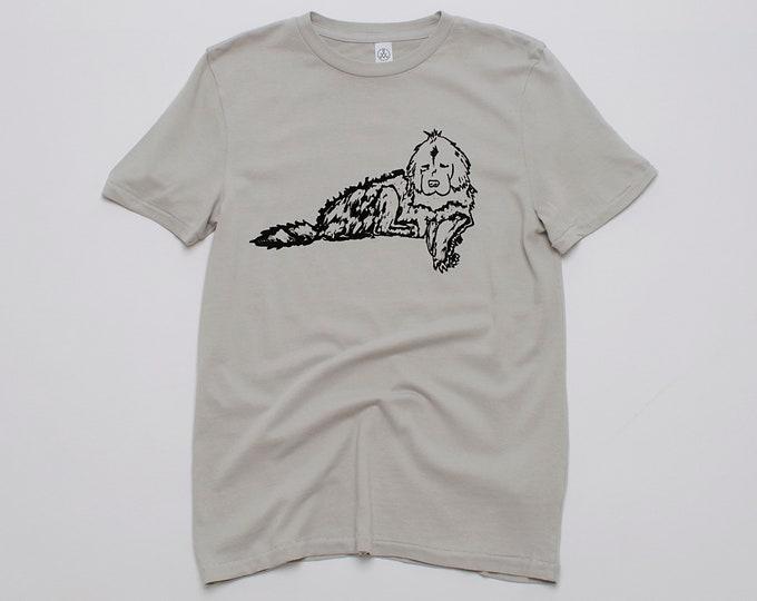 Newfie Tshirt, Newfoundland Shirt, Gift for Dad, Dog Tee, Dog Gift, Gym Tee, Unisex Tee, Big Dog Tee, 100% Cotton