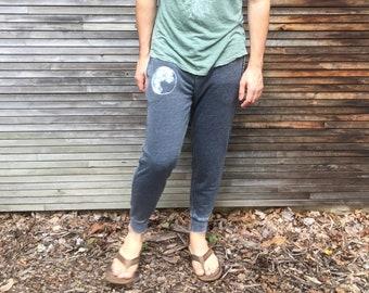 Moon Sweatpants, Gym Pants, Weekend Wear, Comfy Sweats, Moon Pants, Gift for a Guy, Dad Gift, Men's Sweats