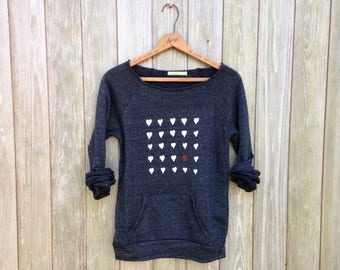 you're the one Sweater, Valentine's Day Gift, Girlfriend Gift, Gift for a Loved One, Heart Sweater, Anniversary Gift