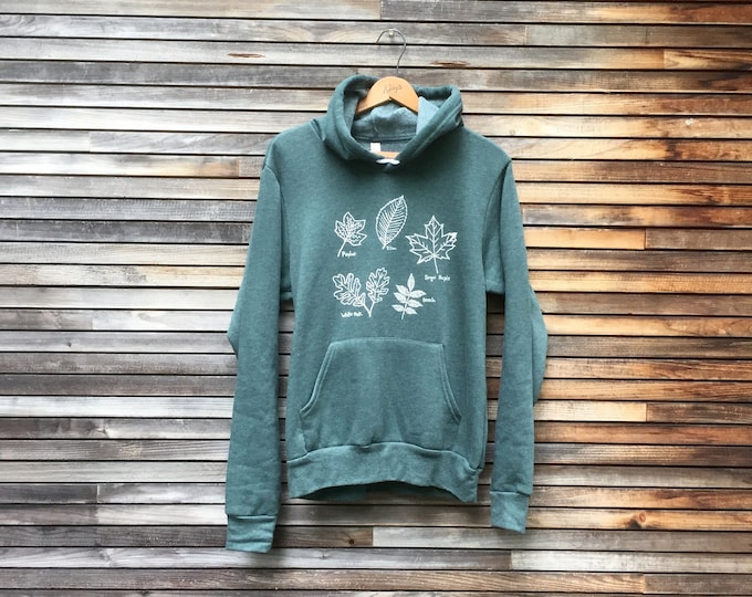 The Trailhead Hoodie, Autumn Leaves, Arborist Shirt, Hiking, Camping, Outdoors Gift, Nature Lover, Cozy Hoodie