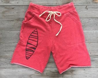 Board Shorts, Surf Shorts, Cali Shorts, Gym Shorts, Yoga Shorts, Broga, Workout Shorts, Cutoff Shorts, Red Shorts