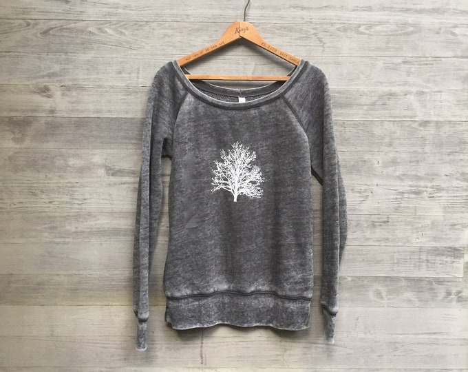 Nature Lover's Sweatshirt, Tree Shirt, Hiking Top, Gift for Mom, Yoga Top, Cozy Sweater, Girlfriend Gift, Camping Top