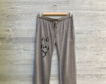 two peas in a pod Siamese Cat Pants, Kitty Pants, Lounge Pants, Cat Pajamas, S,M,L