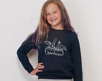 besties Bunny Sweater, Best Friends Top, Bunny Sweatshirt, Easter Gift