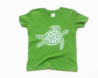 Sea Turtle Tee for a little one, Baby Tee, Toddler Tee, Turtle Tee, Kids Tee, Beach Tee, Organic Cotton