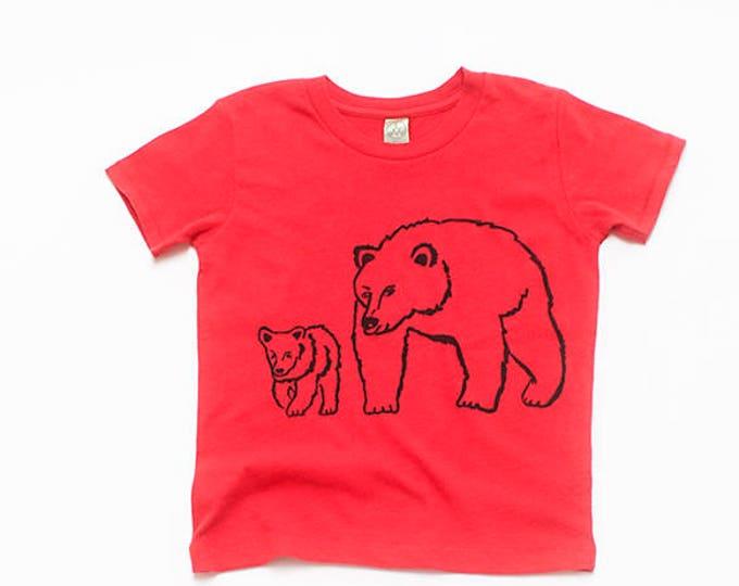 Me and Mama Bear Tee, Baby Tee, Toddler Tee, Bear Gift, Organic Cotton Tee
