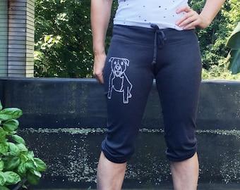 Pitbull Yoga Pants, Cropped Pants, Pajama Bottoms, Capris, S,M,L,XL,2XL