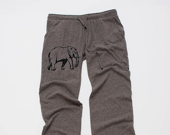 Elephant Pants, Lounge Pants, Weekend Pants, Yoga Pants, Comfy Pants, Elephant Gift