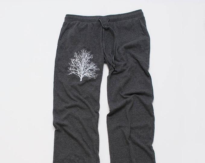 shadow Tree Yoga Pants, Lounge Pants, Pajama Pants, Nature Gift, Unique Yoga Pants, Tree Print