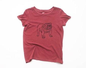 My Faithful Bulldog Tee, Dog Lover, Dog Shirt, Yoga Tee, 100% Cotton