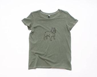 French Bulldog Tshirt, Frenchie Tee, Dog Shirt, Hiking, Summer Tee, 100% Cotton