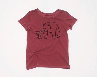 Me and Mama Bear Tshirt, Bear Shirt, Yoga Tee, Summer Tee, Mother's Day, 100% Cotton