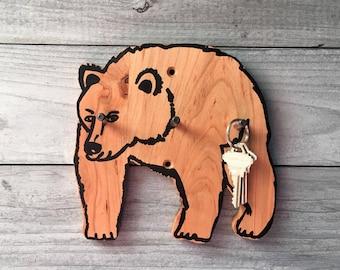 Bear Hook, Key Hook, Housewarming Gift, Cabin Decor, Kids Room, Bear Gift, Rustic Decor