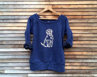 close to my heart Wheaten Terrier Top, Labradoodle Top, Goldendoodle Shirt, Yoga Pullover, Cozy Sweater, Dog Lover Gift