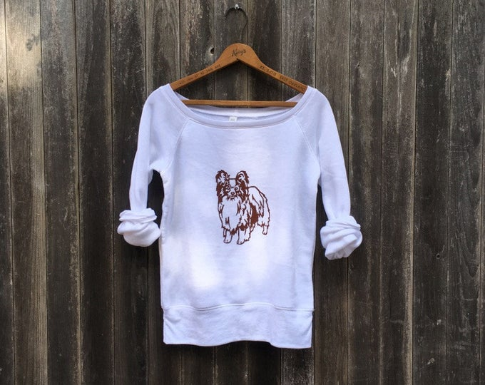 My Charming Little Papillon Sweatshirt, Yoga Top, Dog Sweater, Toy Dog Shirt, Dog Mom Gift, Dog Gift S-2XL