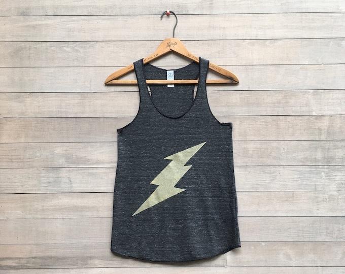 it's electric Lightning Bolt Tank Top, Yoga Tank, Running Tank, S,M,L,XL