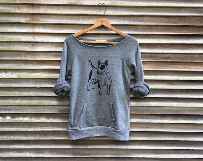 gym rat Bull Terrier Shirt, Gym Shirt, Dog Sweater, Cozy Sweatshirt, Dog Gift, Fleece Pullover