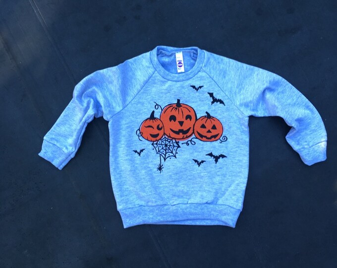 Halloween Shirt, Kids Top, Pumpkin Top, Trick or Treat Shirt, 2T- 12 Years