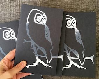 Owl Notebook, Owl Journal, Stocking Stuffer, Owl Lover Gift, Owl Gift, Sketch Pad