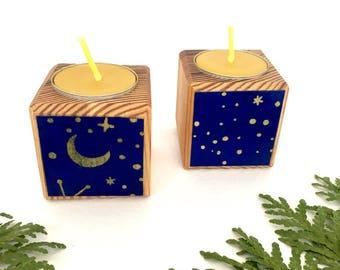 Constellation Votive, Housewarming Gift, Xmas Gift, Gift under 20, Tea Light, Dining Room Decor, Stocking Stuffer