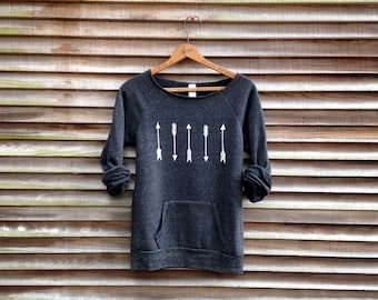 one way or another Arrows Sweater, Boho Top, Gift for a Girlfriend, Cozy Sweater, Yoga Top, Yogi Gift
