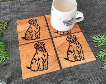 Goldendoodle Coasters, Labradoodle Coasters, Wheaten Terrier Gift, Housewarming Gift, Gift for a Dog Lover, Year of the Dog Gift