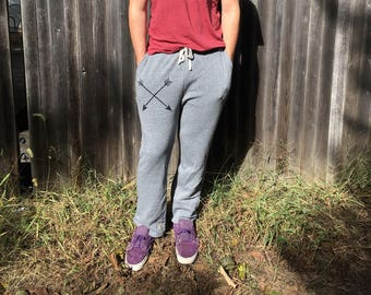 Hustle and Flow Pants, Guy's Sweatpants, Gift for a Guy, Gym Sweats, Boyfriend Gift