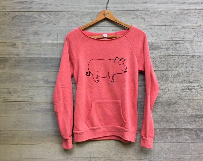 SALE shirt, pig sweatshirt, size small