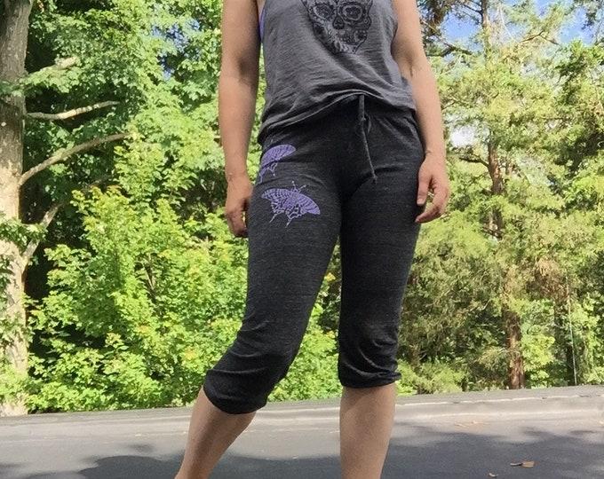 SALE Pants, Yoga Pants, Capris, Butterfly Pants