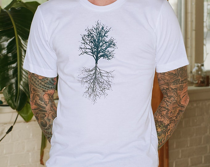 Tree Tshirt, Hiking Tee, Camping Shirt, Gift for a Guy, Outdoor Gift