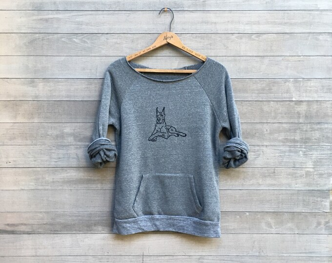 big love Great Dane Shirt, Dog Sweater, Dog Walker, Petsitter Gift, Cozy Sweatshirt, Weekend Wear, Winter Gift, Fleece Top