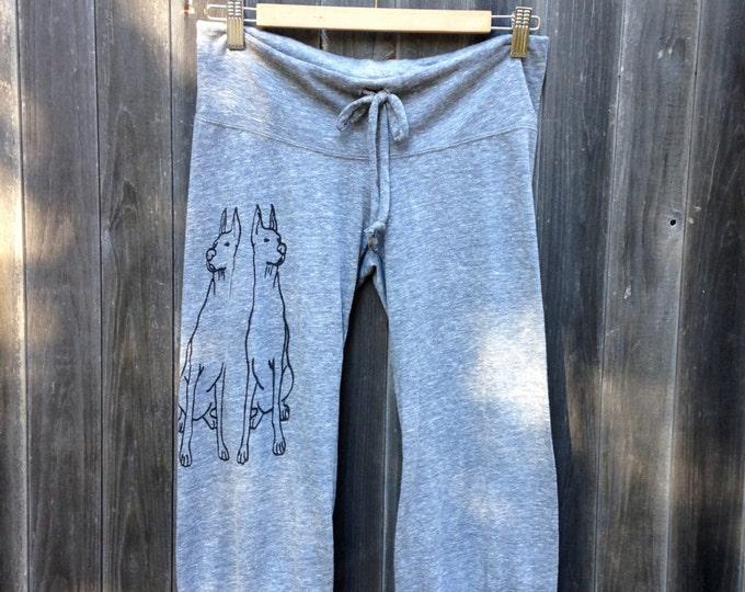 better safe than sorry Doberman Yoga Pants, Cropped Pants, Pajama Bottoms, S,M,L,XL