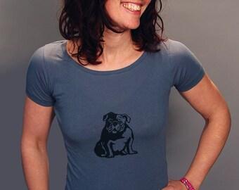SALE Bulldog Shirt, English Bulldog, Yoga Tee, Size S