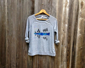 west coast is best coast Pullover, Lake Tahoe Shirt, Camping Shirt, West Coast Shirt, Adventure Gift, Outdoor Top