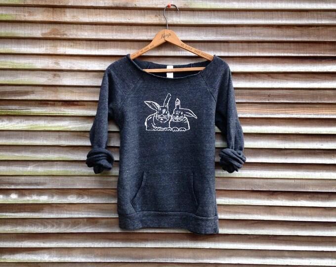 Bestie bunnies Sweatshirt, Rabbit Shirt, Bunny Sweater, Rabbit Gift, Bestie Gift, Girlfriend Gift, Yoga Top, Girlfriend Gift
