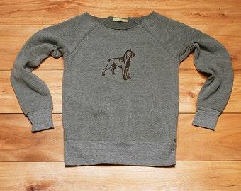 ready...set...go...Boxer Sweatshirt, Dog Sweater, Boxer Shirt, Dog Sweater, Boxer Gift, Dog Walker Gift, Vet Gift