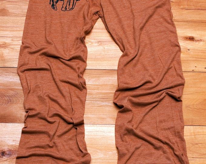 too tired to argue Elephant Yoga Pants, Pajamas, Lounge Pants, Maternity Pants, Elephant Gift
