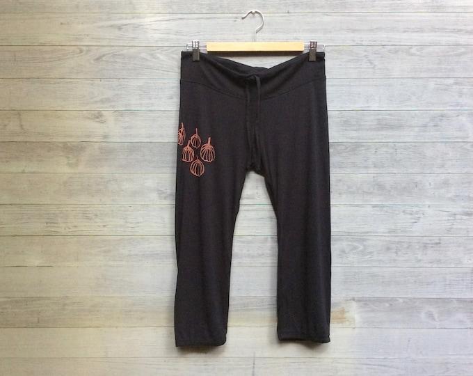 Pumpkins Yoga Pants, Pajama Pants, Lounge Pants, Halloween Pants, Cropped Pants