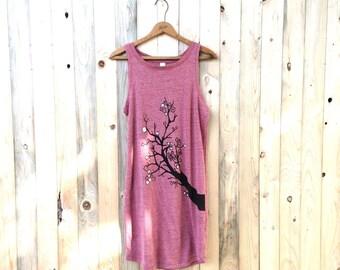 Cherry Blossom Dress, Summer Dress, Tank Dress, S,M,L,XL