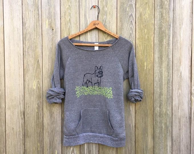 pant...pant...pant...LETS PLAY French Bulldog Shirt, Dog Sweater, Frenchie Clothing, Frenchie Shirt, Dog Mom, Cozy Sweatshirt