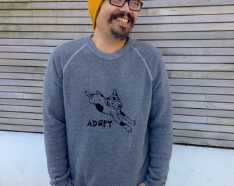 I love my Mutt Shirt, Adopt a Dog Shirt, Rescue Shirt, Unisex Sweatshirt, Gift for a Dog Lover, Dog Sweater