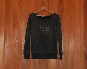 SALE sweatshirt, fox shirt, size xsmall