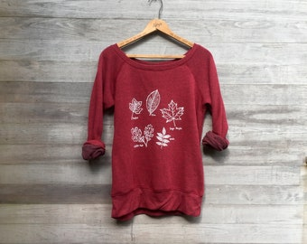 The Trailhead Top, Nature Shirt, Leaf Shirt, Autumn Top, Back to School, Fall Leaves, Gift for a Biologist, Gift for an Arborist