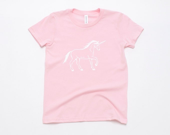 Unicorn Tee, Girl's Tee, Birthday Gift, Summer Tee, Niece, Granddaughter, Baby Girl's Tee, Unicorn Gift